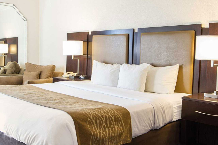guest suite with one king bed